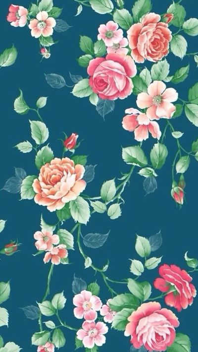 17 Best images about Floral backgrounds on Pinterest | iPhone backgrounds, Vintage fabrics and ...
