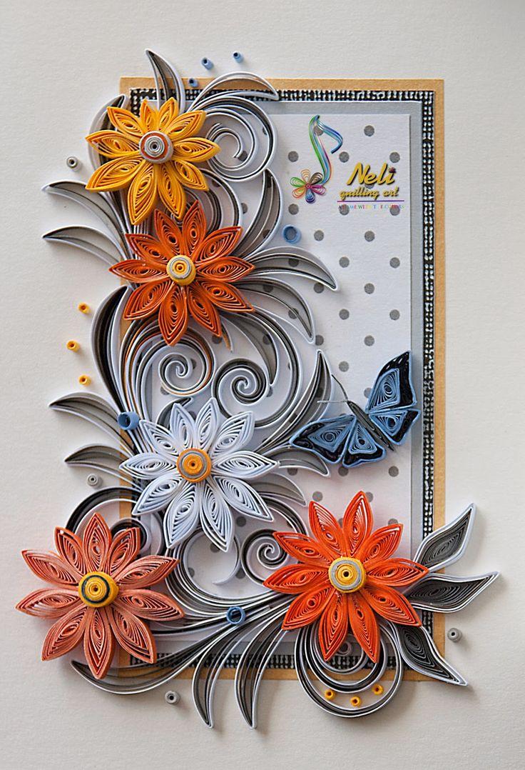 Neli quilling art quilling cards 14 8 cm 10 5 cm