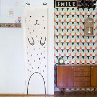 Haru the Happy Bear Door decal / Wall decal for doors ...