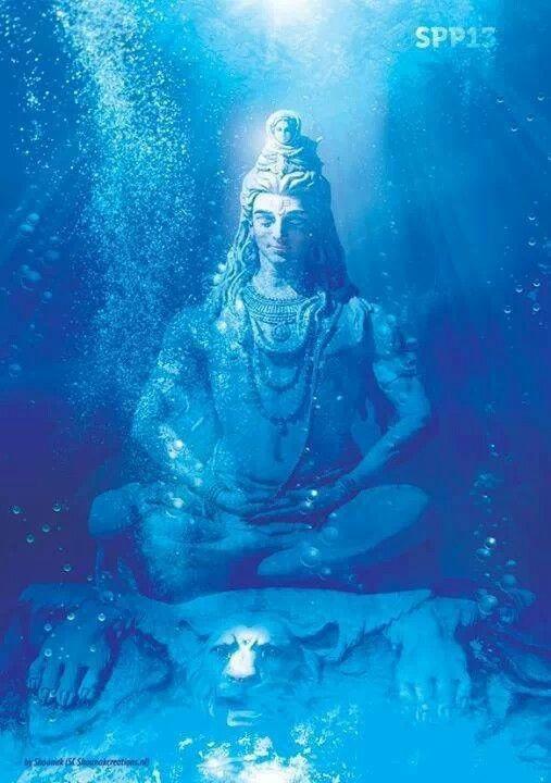 Mahadev Animated Wallpaper Hindu God Shiva Submerged Illustration Creative Piety