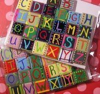 Alphabet Letter Ceramic Handpainted Tile Magnet Set. $17 ...