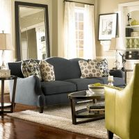 Nice sofa color. This might suit us...dark grey sofa ...