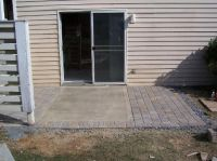 Pavers around a concrete slab. Good possibility if you don ...