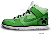 Creeper Nike Dunks (Minecraft) | Minecraft | Pinterest ...