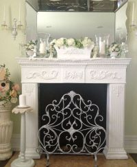 Fireplace mantle,shabby chic | ~My beautiful home ...