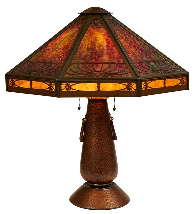 Limbert Lamp Attribution Grand Rapids Mi Hammered
