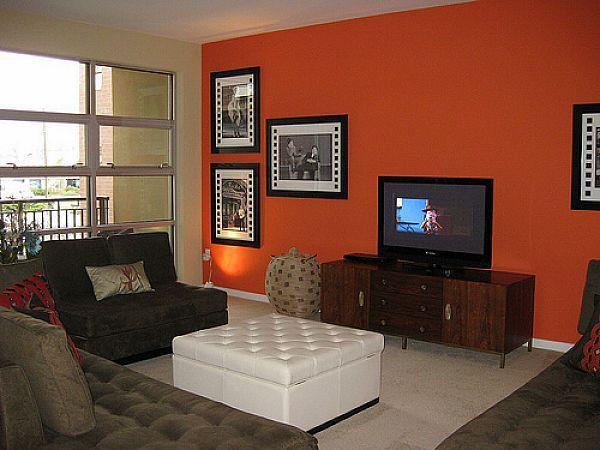 17 Best Ideas About Orange Wall Paints On Pinterest | Orange Walls