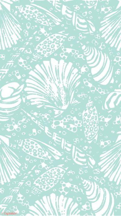Mint seashells summer iPhone 5 wallpaper background lockscreen | Pic's | Pinterest | Iphone 5 ...