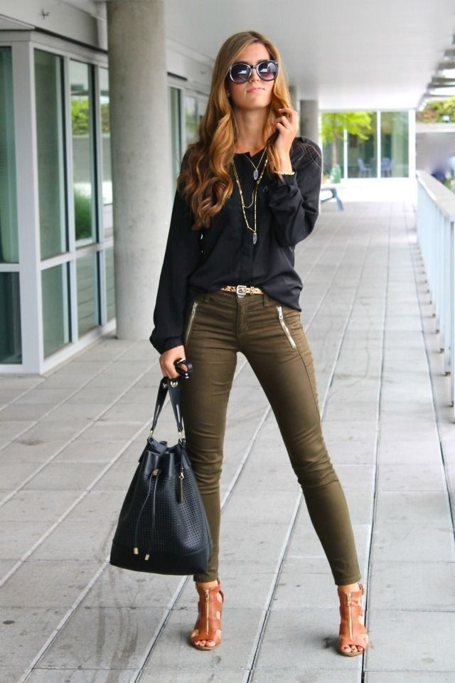 Dunkelgrüne Hose Damen 17 Best Images About Khaki Coordinates On Pinterest