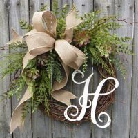 25+ best ideas about Initial door wreaths on Pinterest ...