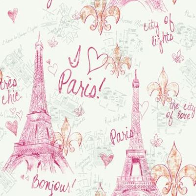 Pink Paris Sketch Wallpaper | For my girls... | Pinterest | Autumn, Patterns and Paris wallpaper