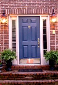 red brick house door colors | ... door i love this color ...
