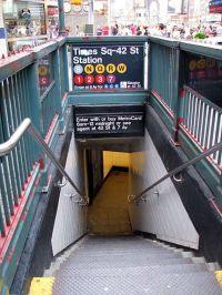 NYC Subway - 8x10 photo - Times Square subway sign and ...