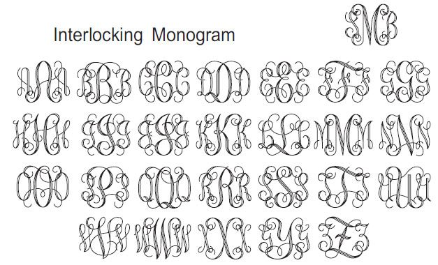 interlocking monogram generator