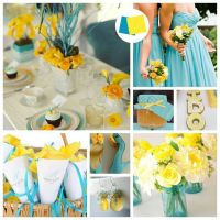 7 best images about yellow and turquoise wedding on ...