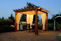 pergola with drapes | Gardening | Pinterest | Patios e Pergole