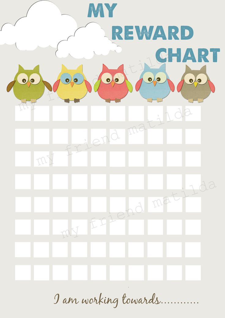sticker reward charts for toddlers