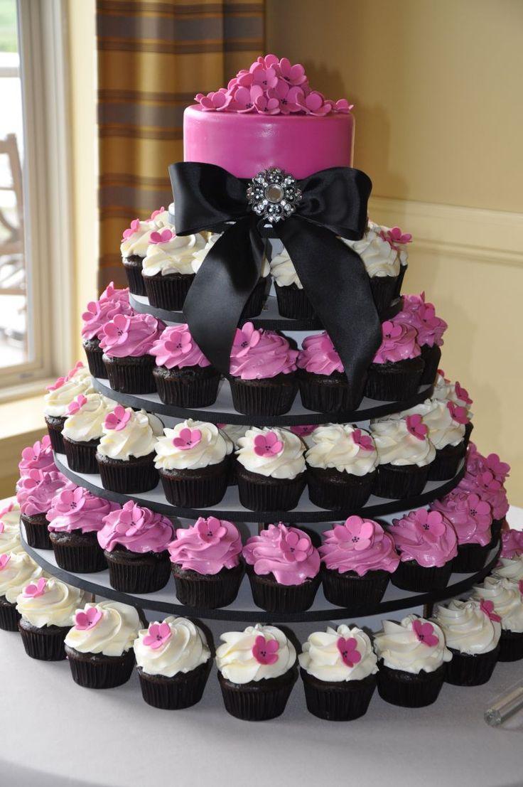 cupcake wedding cakes wedding cupcake ideas pink white wedding cupcakes