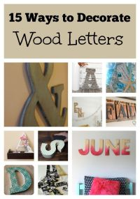 25+ best ideas about Decorate Wooden Letters on Pinterest ...