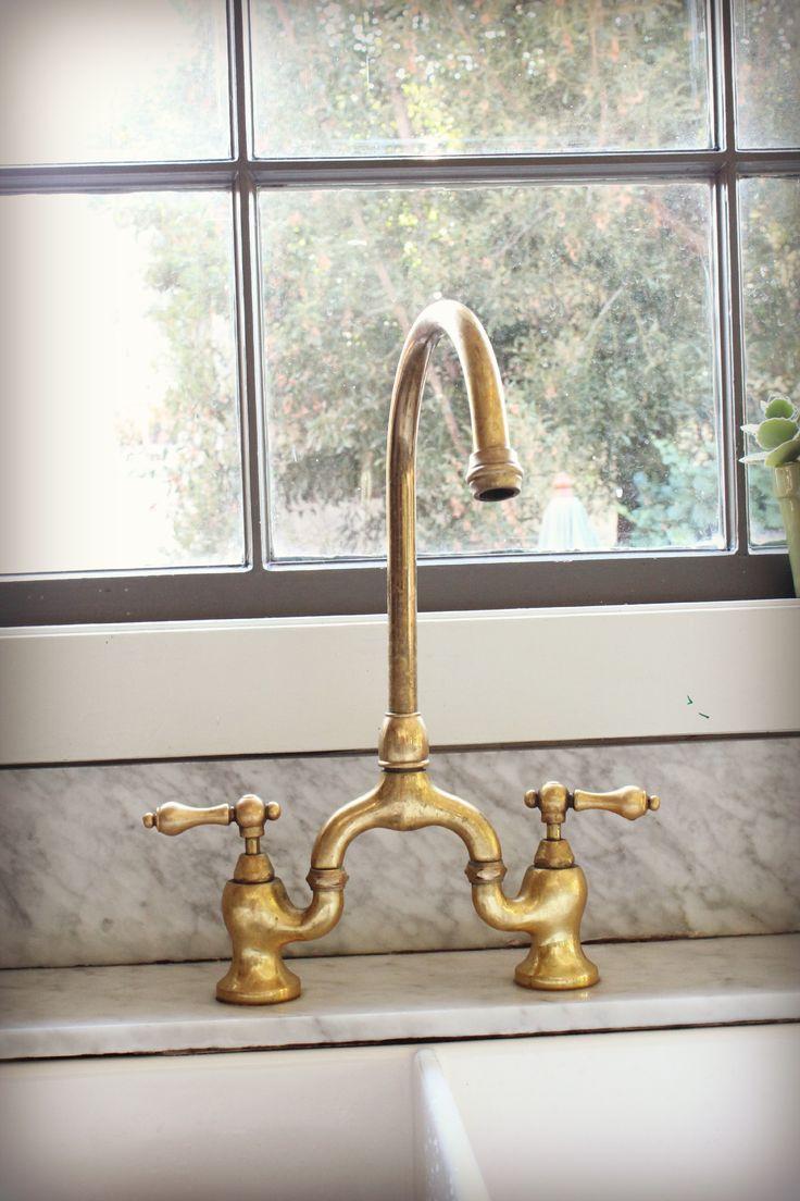 Kohler Kitchen Faucets Brass ☆▻ kitchen faucet : rapture unlacquered brass kitchen faucet