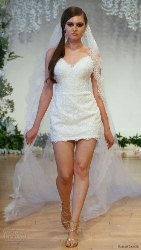 short tea length wedding dresses sexy short wedding dresses Sarah Jassir Wedding Dresses The Secret Garden Bridal Collection