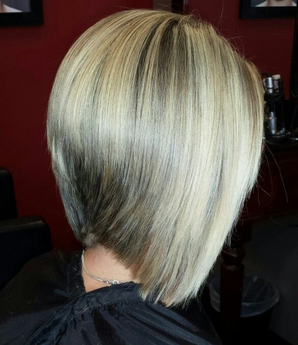 Bob Haircut Blonde Highlights And Graduated Bob Haircut My Work