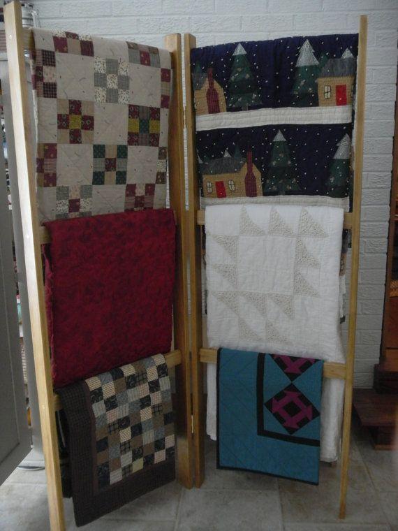 15 Must See Quilt Ladder Pins Blanket Rack Blanket