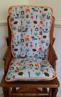 Custom Fox & Friends High Chair Cushions, Highcair Pads