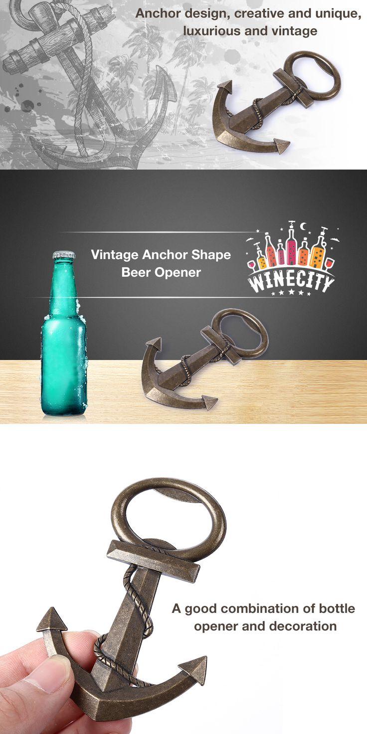 Funny grab shaped multi purpose fruits vegetable peeler bottle opener vintage anchor shape bottle beer