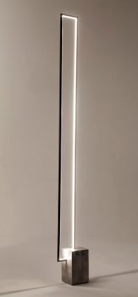 The Mire : a floor lamp with a clear LED light strip ...