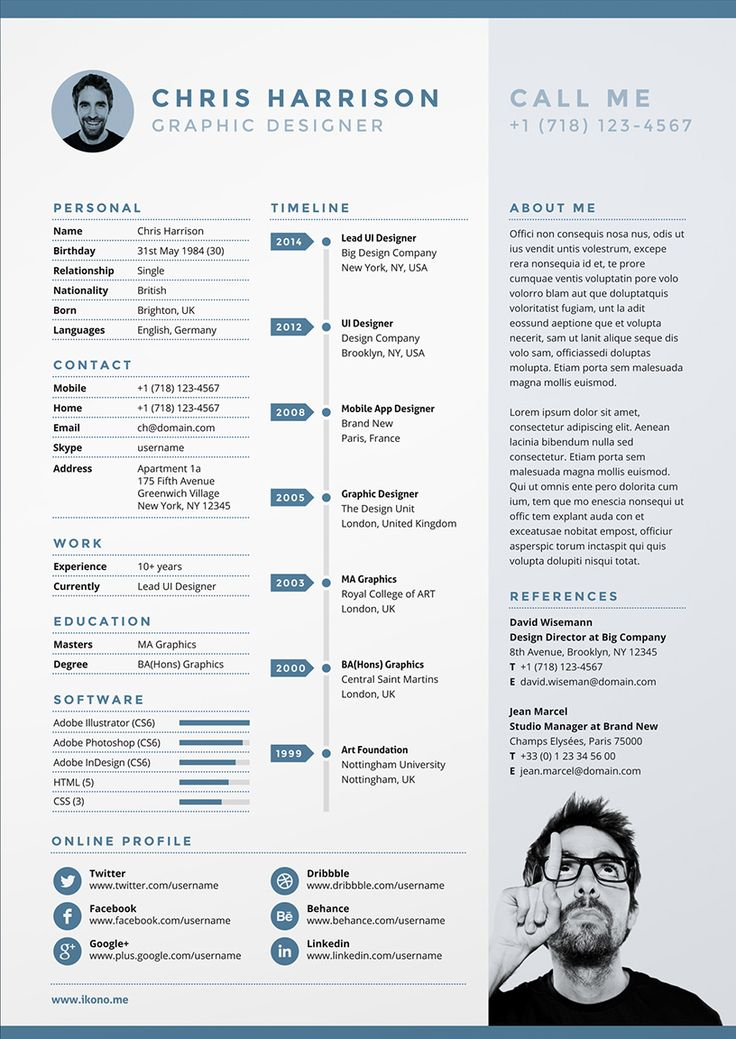 design cv alternance communication