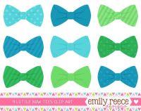 50% Off Sale - Boy Bow Ties Blue Green Stripes Polka Dots ...