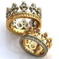 Crown Engagement Rings, Wedding Rings, Promise Rings his ...
