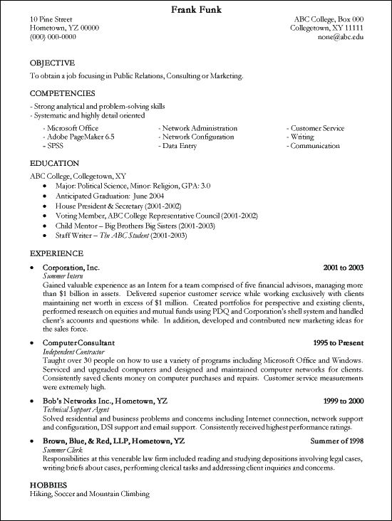 smart idea internship resume examples 8 functional resume sample - wwwresume examples