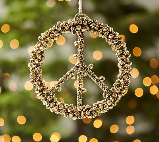 pretty gold peace sign ornament rstyle me n