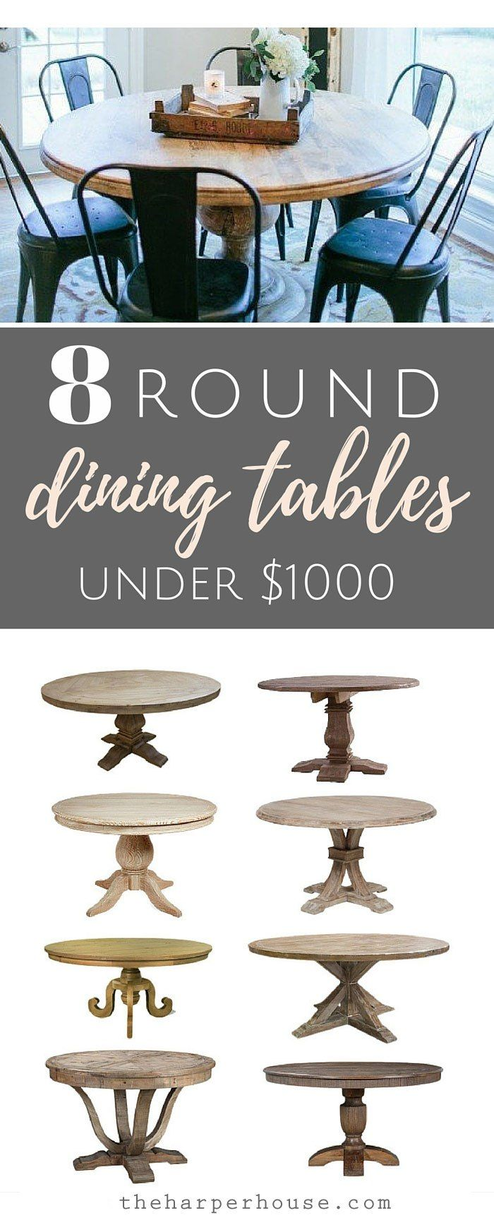 round dining tables round kitchen tables Fixer Upper round dining tables and where to find affordable options for under theharperhouse
