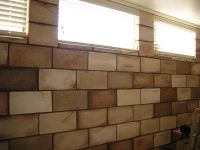 painting cinder blocks | ... : Painted Concrete Block Wall ...
