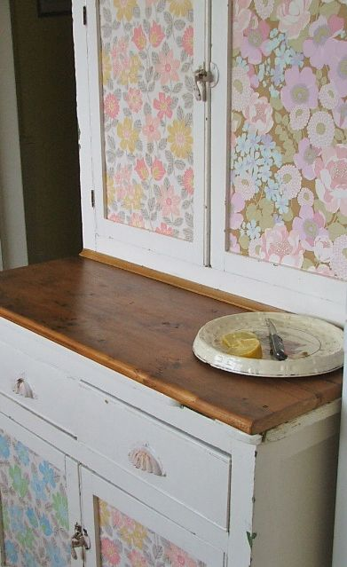 115 best images about Crafty Wallpaper on Pinterest | Wallpaper headboard, Refinished desk and ...