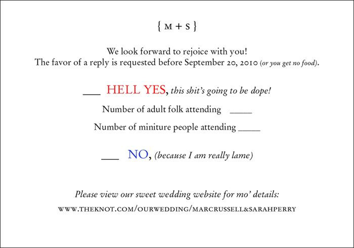 Formal Invitation Rsvp Fun Wedding Rsvp | Wedding Invite And Response Card I Did