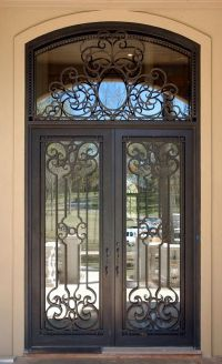 Wrought Iron Front Doors | Wrought iron entry doors_Double ...