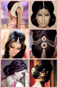 Indian hair styles with hair accessories | Indian Wedding ...