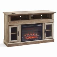 TV Entertainment Center Fireplace Rustic Heater Media ...