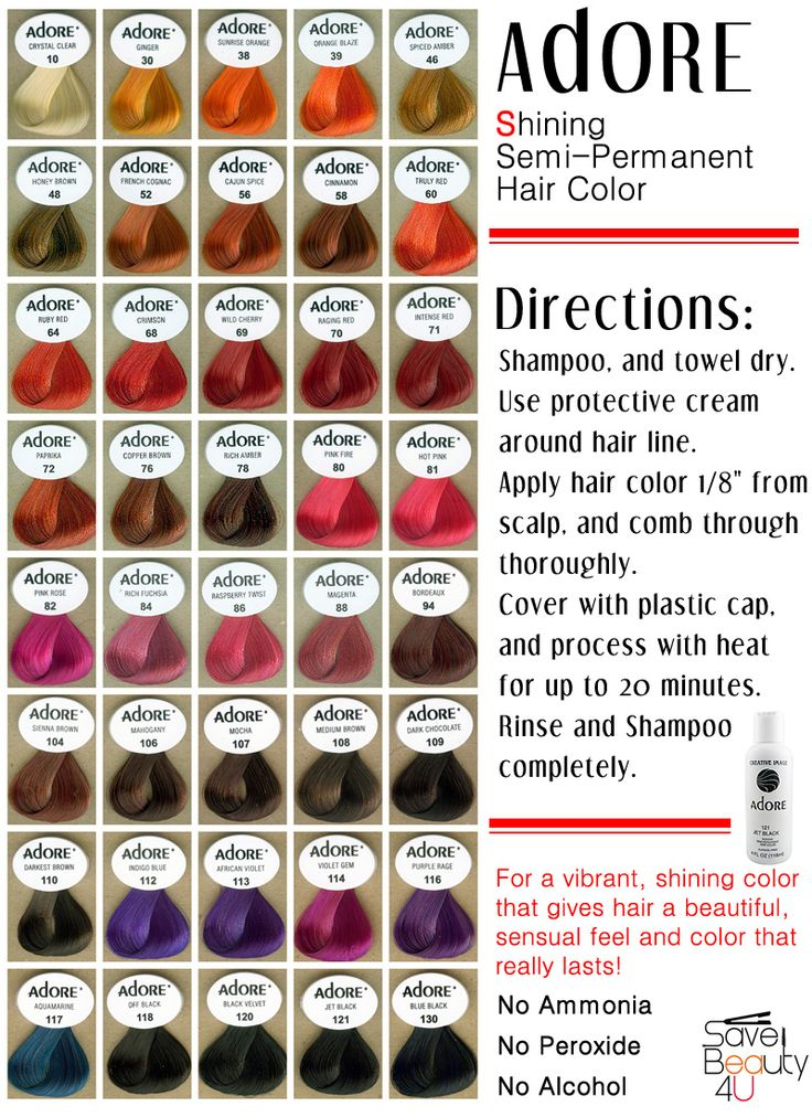 Best Color Hair Dye Brand Adore Shining Semi Permanent Hair Color Alcohol Free Color