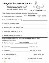 All Worksheets  Singular And Plural Possessive Nouns