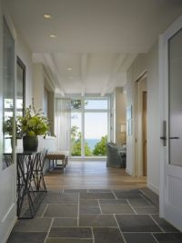 Cool Front Entry With Slate Tile Flooring And Modern ...