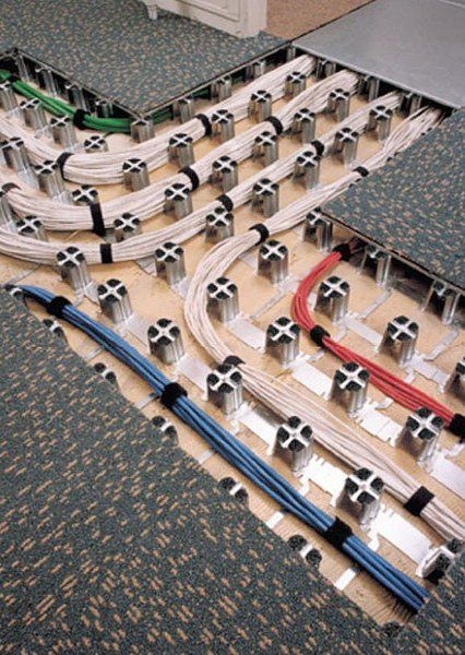 Cable Floors And Cable Management On Pinterest