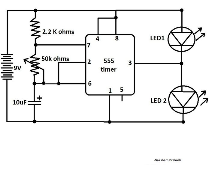 and fader led circuits using ic 555 homemade circuit projects