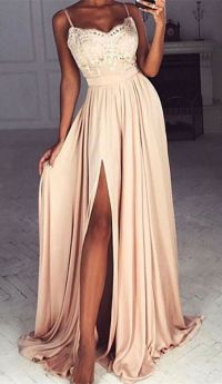 Best 25+ Split Prom Dresses ideas on Pinterest | Champagne ...