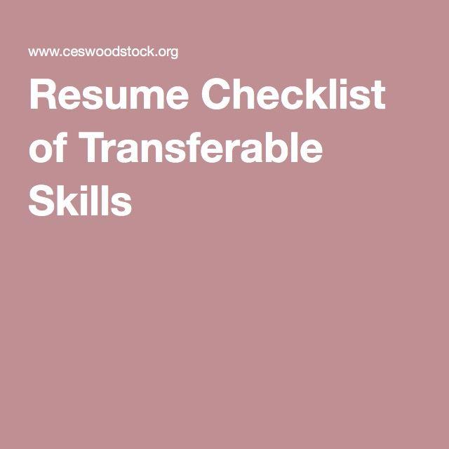 resume skills thesaurus