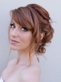 Best 25+ Wedding hair bangs ideas on Pinterest